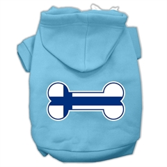 Mirage Pet Products Bone Shaped Finland Flag Screen Print Pet Hoodies Baby Blue S (10)