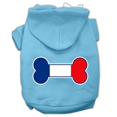 Mirage Pet Products Bone Shaped France Flag Screen Print Pet Hoodies Baby Blue M (12)