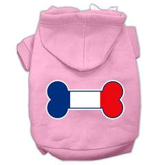 Mirage Pet Products Bone Shaped France Flag Screen Print Pet Hoodies Light Pink Size XXL (18)