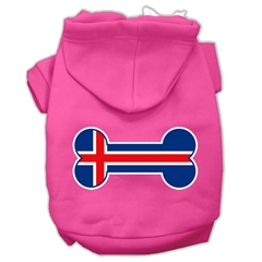 Mirage Pet Products Bone Shaped Iceland Flag Screen Print Pet Hoodies Bright Pink Size XL (16)