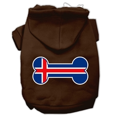 Mirage Pet Products Bone Shaped Iceland Flag Screen Print Pet Hoodies Brown S (10)