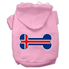 Mirage Pet Products Bone Shaped Iceland Flag Screen Print Pet Hoodies Light Pink Size S (10)