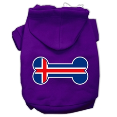 Mirage Pet Products Bone Shaped Iceland Flag Screen Print Pet Hoodies Purple Size XS (8)