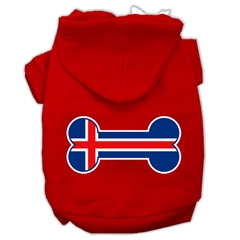 Mirage Pet Products Bone Shaped Iceland Flag Screen Print Pet Hoodies Red Size XL (16)