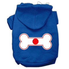 Mirage Pet Products Bone Shaped Japan Flag Screen Print Pet Hoodies Blue XL (16)