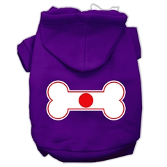Mirage Pet Products Bone Shaped Japan Flag Screen Print Pet Hoodies Purple Size L (14)