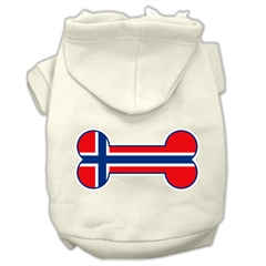 Mirage Pet Products Bone Shaped Norway Flag Screen Print Pet Hoodies Cream Size S (10)