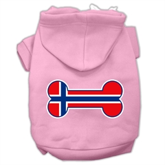 Mirage Pet Products Bone Shaped Norway Flag Screen Print Pet Hoodies Light Pink Size XS (8)