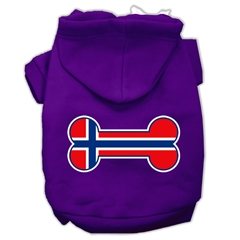 Mirage Pet Products Bone Shaped Norway Flag Screen Print Pet Hoodies Purple Size XL (16)