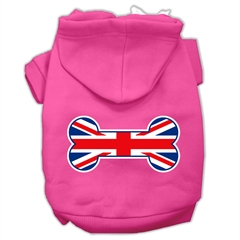 Mirage Pet Products Bone Shaped United Kingdom (Union Jack) Flag Screen Print Pet Hoodies Bright Pink XL (16)