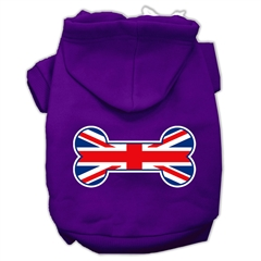Mirage Pet Products Bone Shaped United Kingdom (Union Jack) Flag Screen Print Pet Hoodies Purple Size XXL (18)