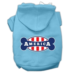 Mirage Pet Products Bonely in America Screen Print Pet Hoodies Baby Blue Size Sm (10)
