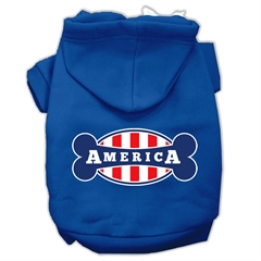 Mirage Pet Products Bonely in America Screen Print Pet Hoodies Blue Size XL (16)