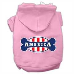 Mirage Pet Products Bonely in America Screen Print Pet Hoodies Light Pink Size XXL (18)