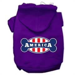 Mirage Pet Products Bonely in America Screen Print Pet Hoodies Purple Size Lg (14)