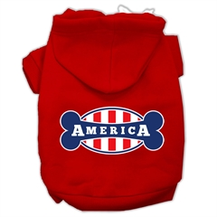 Mirage Pet Products Bonely in America Screen Print Pet Hoodies Red Size XS (8)