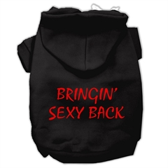 Mirage Pet Products Bringin' Sexy Back Screen Print Pet Hoodies Black Size Sm (10)