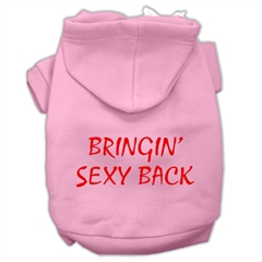 Mirage Pet Products Bringin' Sexy Back Screen Print Pet Hoodies Light Pink Size XL (16)