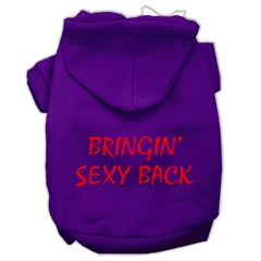 Mirage Pet Products Bringin' Sexy Back Screen Print Pet Hoodies Purple Size XXL (18)