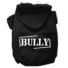 Mirage Pet Products Bully Screen Printed Pet Hoodies Black Size Med (12)