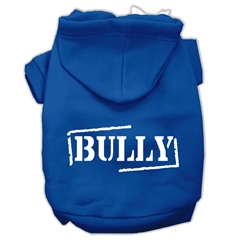 Mirage Pet Products Bully Screen Printed Pet Hoodies Blue Size Lg (14)