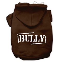 Mirage Pet Products Bully Screen Printed Pet Hoodies Brown Size Med (12)