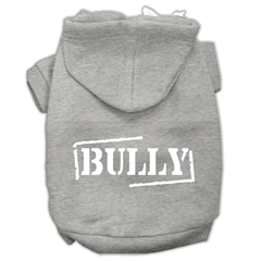 Mirage Pet Products Bully Screen Printed Pet Hoodies Grey Size XXL (18)