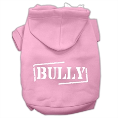 Mirage Pet Products Bully Screen Printed Pet Hoodies Light Pink Size XXL (18)