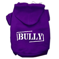 Mirage Pet Products Bully Screen Printed Pet Hoodies Purple Size XL (16)