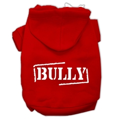 Mirage Pet Products Bully Screen Printed Pet Hoodies Red Size Med (12)