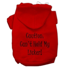 Mirage Pet Products Can't Hold My Licker Screen Print Pet Hoodies Red Size XXXL (20)