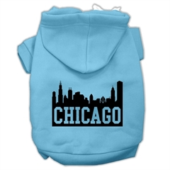 Mirage Pet Products Chicago Skyline Screen Print Pet Hoodies Baby Blue Size XL (16)