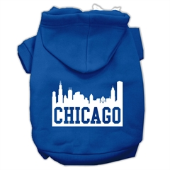 Mirage Pet Products Chicago Skyline Screen Print Pet Hoodies Blue Size Med (12)