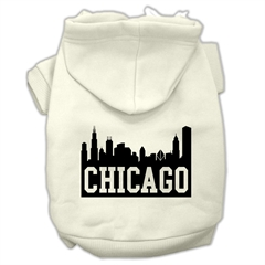 Mirage Pet Products Chicago Skyline Screen Print Pet Hoodies Cream Size XXL (18)