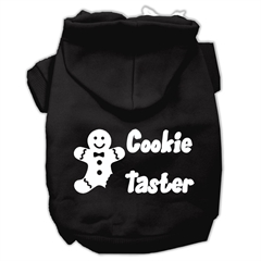Mirage Pet Products Cookie Taster Screen Print Pet Hoodies Black Size XXXL (20)