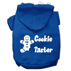 Mirage Pet Products Cookie Taster Screen Print Pet Hoodies Blue Size Med (12)