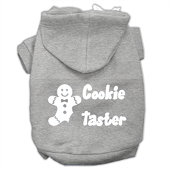 Mirage Pet Products Cookie Taster Screen Print Pet Hoodies Grey Size Lg (14)