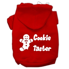 Mirage Pet Products Cookie Taster Screen Print Pet Hoodies Red Size XL (16)