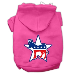 Mirage Pet Products Democrat Screen Print Pet Hoodies Bright Pink Size XL (16)