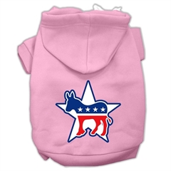 Mirage Pet Products Democrat Screen Print Pet Hoodies Light Pink Size Lg (14)