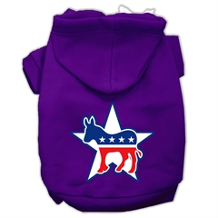 Mirage Pet Products Democrat Screen Print Pet Hoodies Purple Size Med (12)