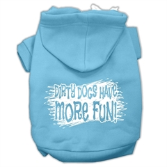 Mirage Pet Products Dirty Dogs Screen Print Pet Hoodies Baby Blue Size XXXL (20)
