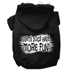 Mirage Pet Products Dirty Dogs Screen Print Pet Hoodies Black Size Med (12)