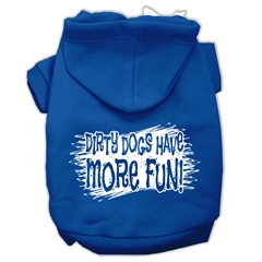 Mirage Pet Products Dirty Dogs Screen Print Pet Hoodies Blue Size XS (8)