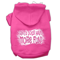 Mirage Pet Products Dirty Dogs Screen Print Pet Hoodies Bright Pink Size XXXL (20)