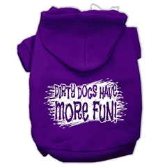 Mirage Pet Products Dirty Dogs Screen Print Pet Hoodies Purple Size Med (12)