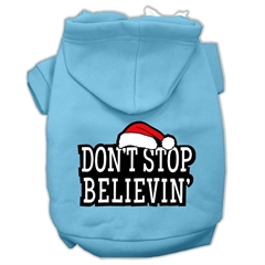 Mirage Pet Products Don't Stop Believin' Screenprint Pet Hoodies Baby Blue Size XXL (18)