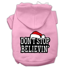 Mirage Pet Products Don't Stop Believin' Screenprint Pet Hoodies Light Pink Size L (14)