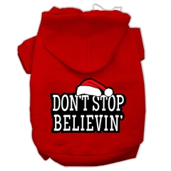 Mirage Pet Products Don't Stop Believin' Screenprint Pet Hoodies Red Size XL (16)