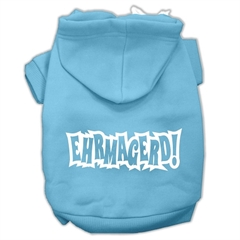 Mirage Pet Products Ehrmagerd Screen Print Pet Hoodies Baby Blue Size Med (12)